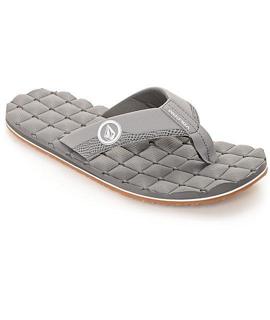 Volcom Recliner Grey Sandals