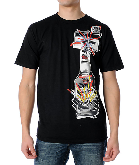 Volcom Recommended Collage Black T-Shirt