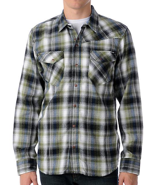 Volcom Refract Green Flannel Shirt