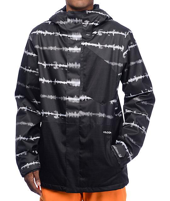 Volcom Retrospec Black Tie Dye 8K Snowboard Jacket