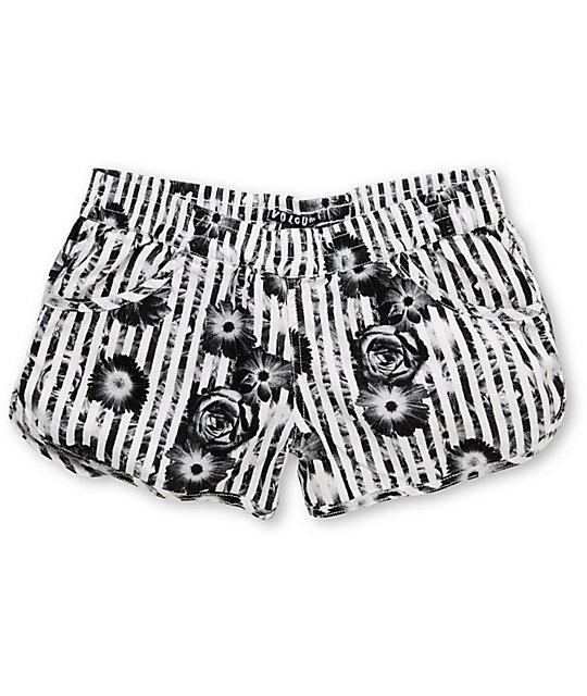 Volcom Rev Up 2.5 Striped & Floral Shorts