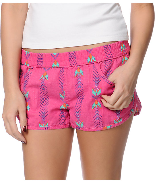 Volcom Ride Easy Pink Beach Shorts