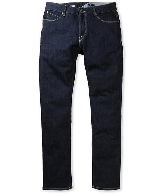 Volcom Riser Dark Blue Super Skinny Jeans