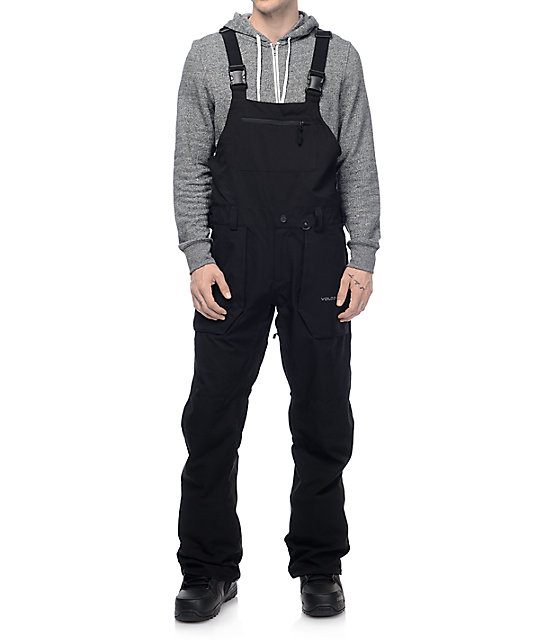 Volcom Roan 15K Black Snow Bib