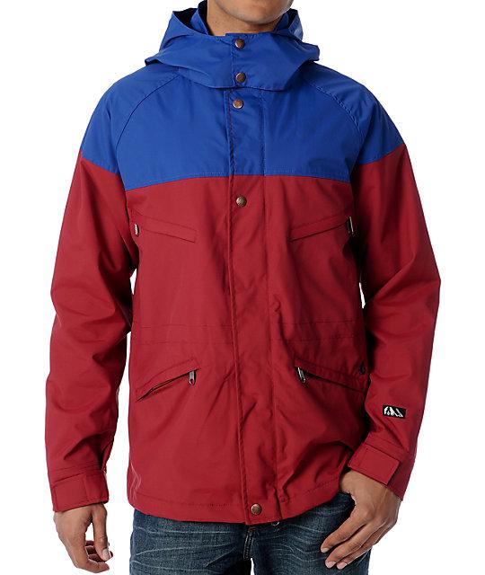 Volcom Rockledge Blue & Red Jacket