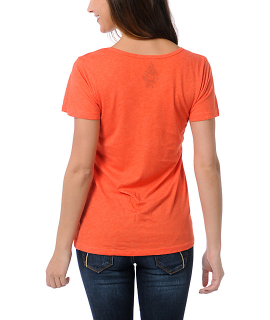 Volcom Russtache Orange V-Neck T-Shirt