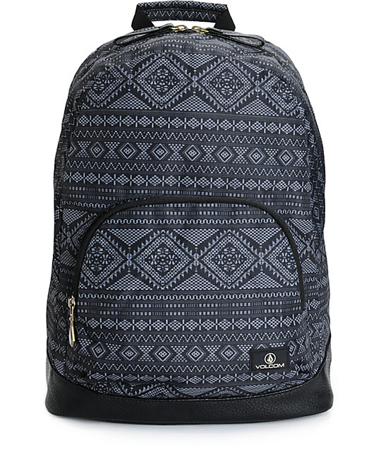 Volcom Schoolyard Black Geo Backpack