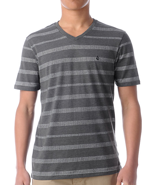 Volcom Scurvy Grey V-Neck Knit T-Shirt