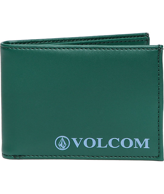 Volcom Serif Green Bifold Wallet