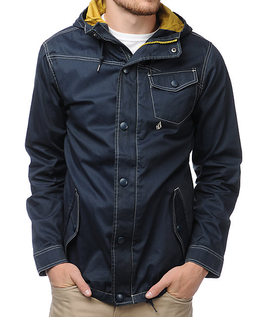 Volcom Shipwrecks Navy Outdoor Jacket