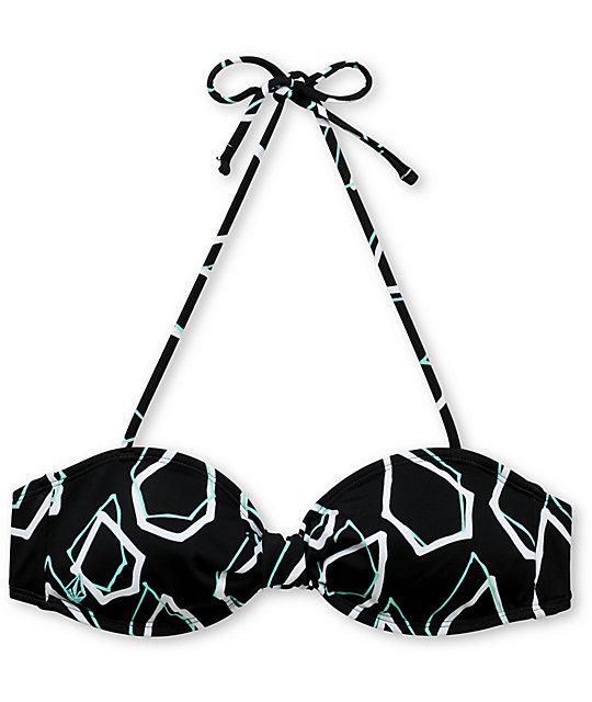 Volcom Simply Stoned Aqua Bandeau Bikini Top