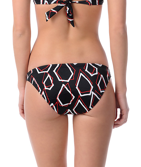 Volcom Simply Stoned Basic Red Bikini Bottom