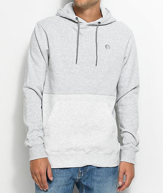 Volcom Single Stone Grey & White Pullover Hoodie