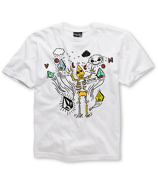 Volcom Skeleton Bay Boys White T-Shirt