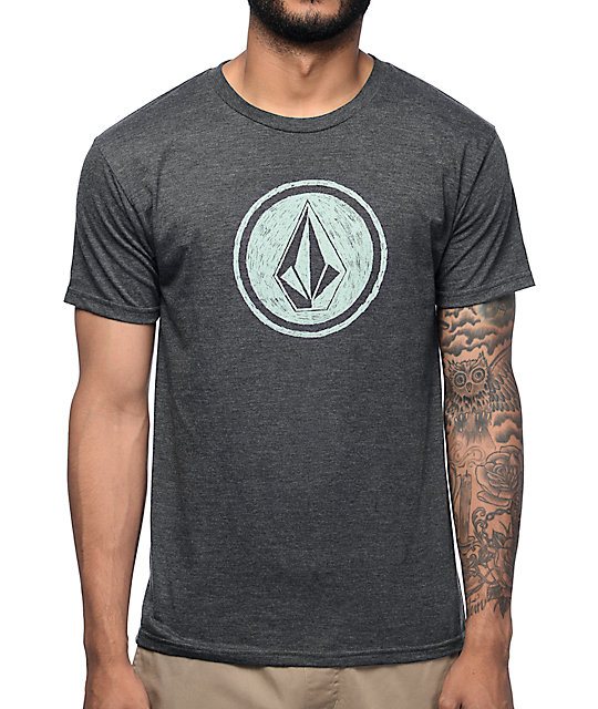 Volcom Sketch Key Heather Charcoal T-Shirt