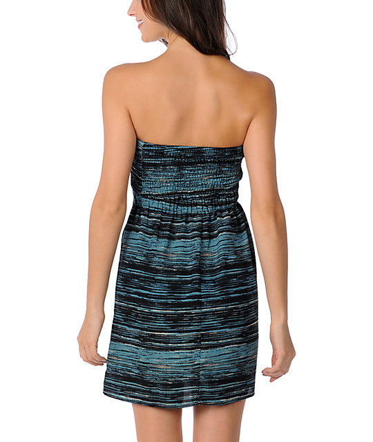 Volcom Sketched Out Blue Tube Dress