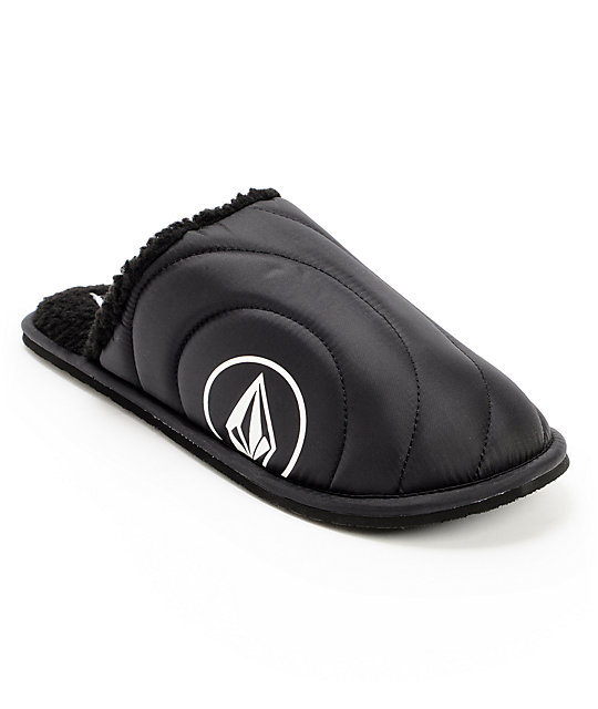 Volcom Slacker Black & White Slippers