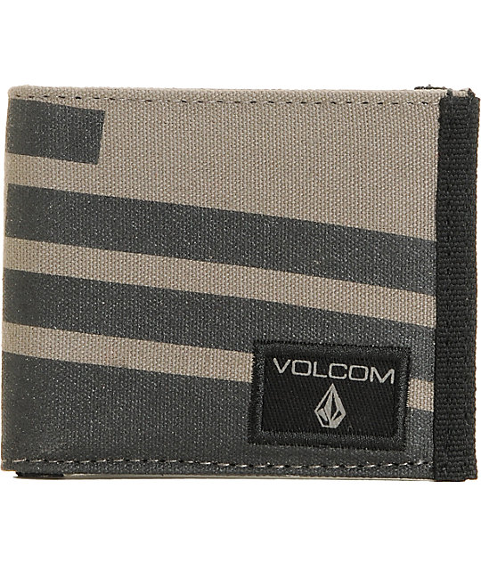 Volcom Slant Black & Grey Bifold Wallet