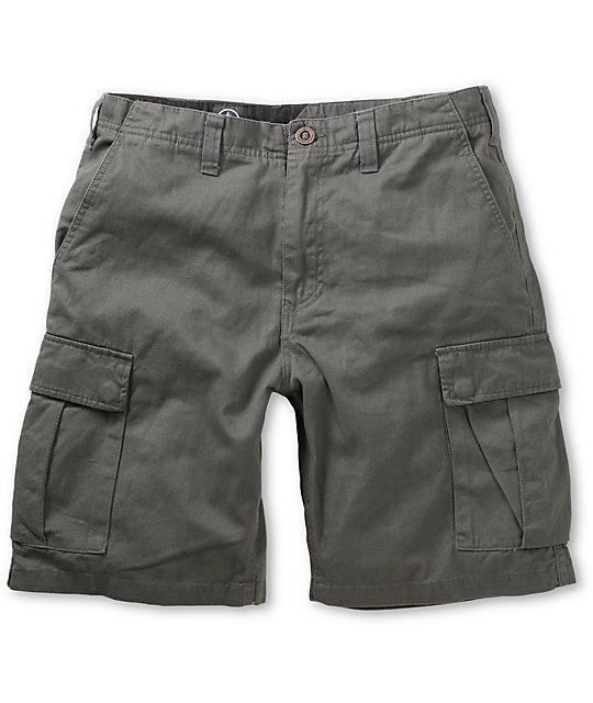 Volcom Slargo Charcoal Cargo Shorts