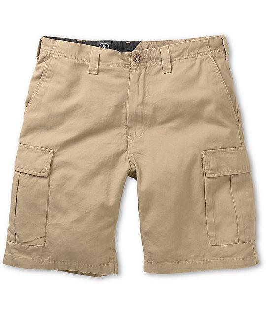 Volcom Slargo Khaki Twill Cargo Shorts