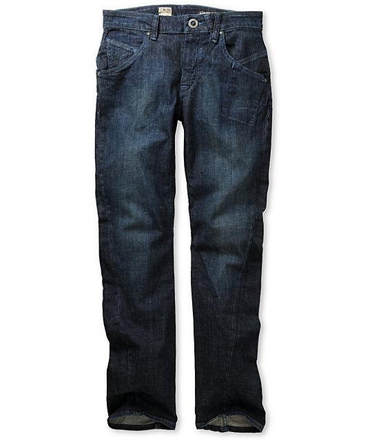 Volcom Slergo Dark Blue Skinny Jeans