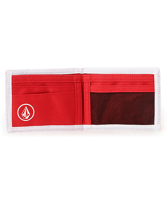 Volcom Sorry Bifold Red Wallet