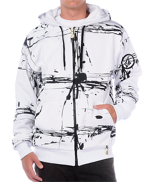 Volcom Splaids White Tech Fleece Jacket