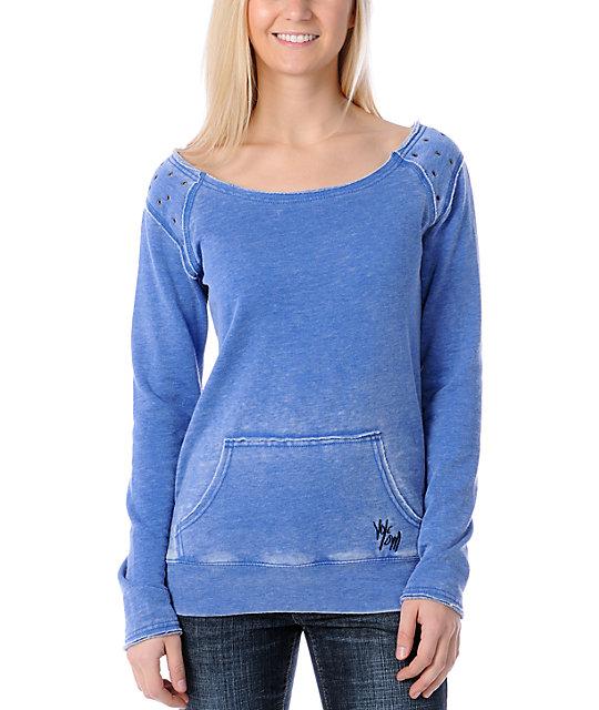Volcom Spot On Blue Crew Sweatshirt