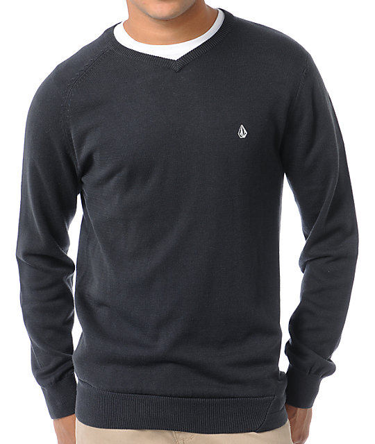 Volcom Standard Black V-Neck Sweater