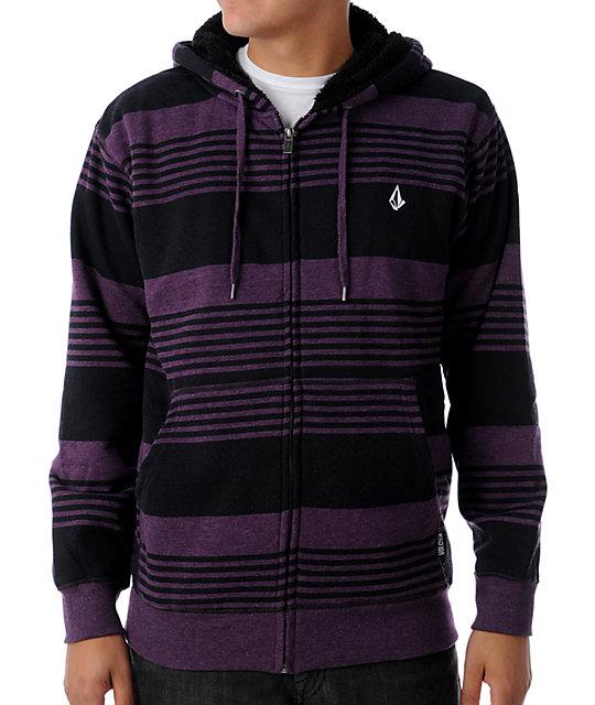 Volcom Standard Purple Stripe Hoodie