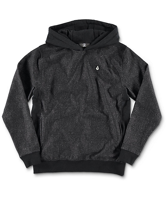 Volcom Static Stone Black Youth Pullover Hoodie