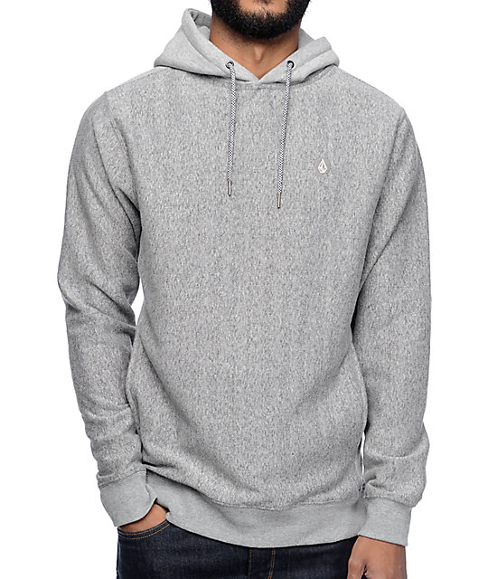 Volcom Static Stone Heather Grey Hoodie