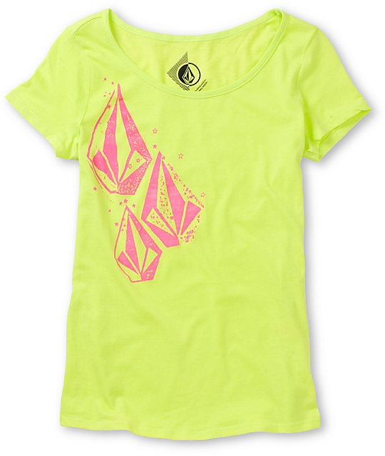 Volcom Stonar Neon Green Scoop Neck T-Shirt