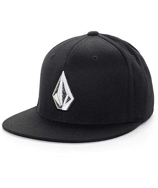 Volcom Stone Slab Black Flexfit Hat