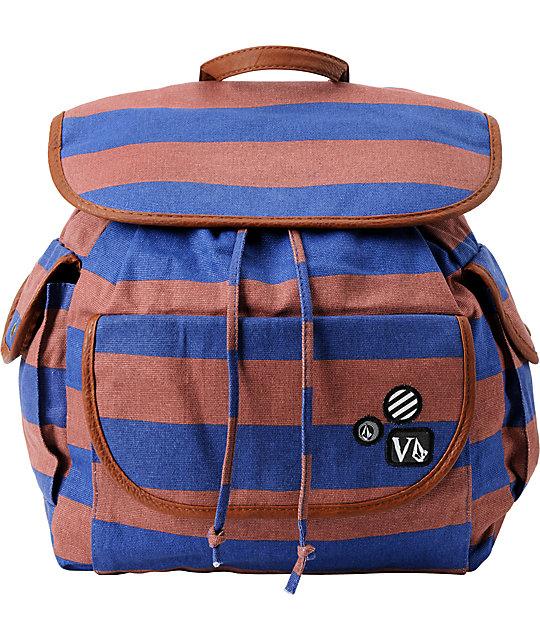 Volcom Stone Stealer Striped Rucksack Backpack