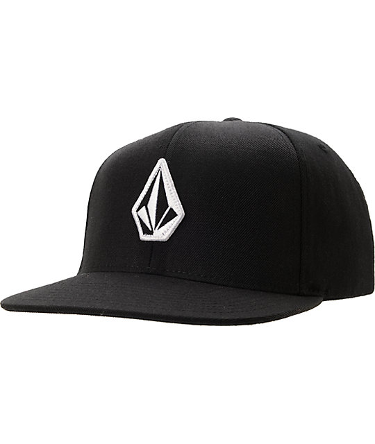 Volcom Stoned Black Snapback Hat