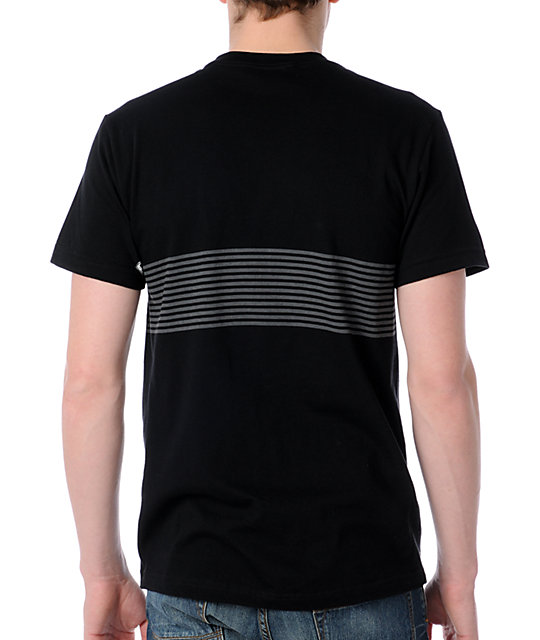 Volcom String Stripes Black T-Shirt