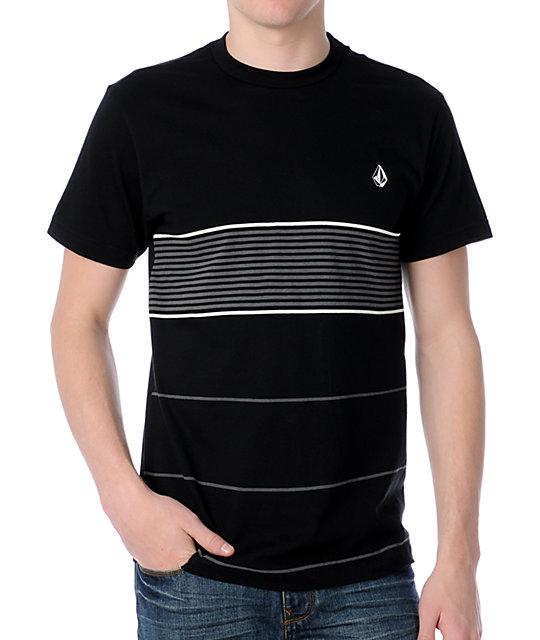 Volcom String Stripes Black T-Shirt