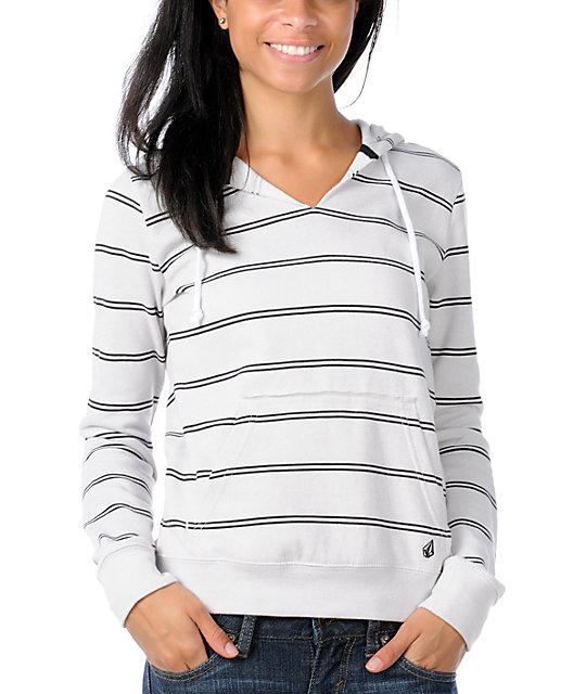 Volcom Stripe Stack Grey Pullover Hoodie