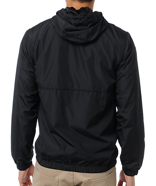 Volcom Swisher Black Windbreaker Jacket