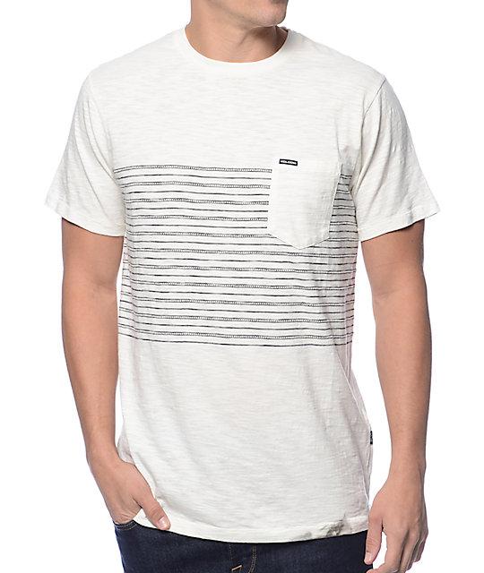 Volcom Threezy White Stripe Pocket T-Shirt