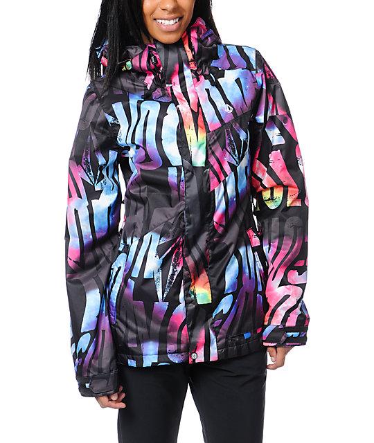 Volcom Tipsy Tonic Black 15K Snowboard Jacket