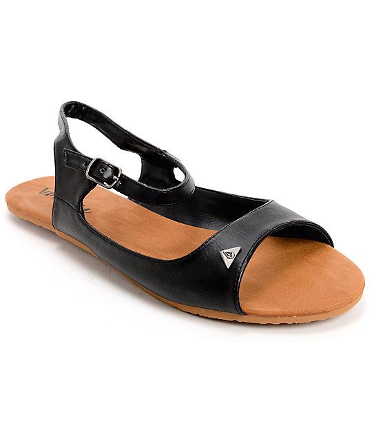 Volcom Trust Me Black Sandals