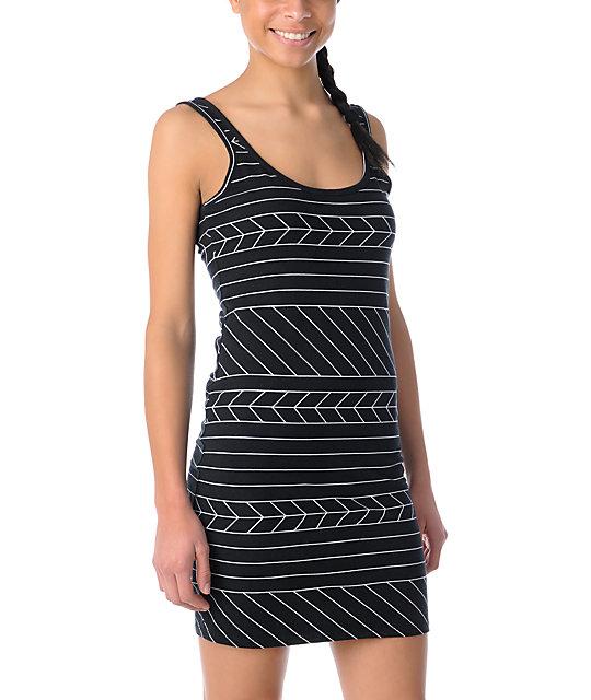 Volcom Turner Body Con Black Dress