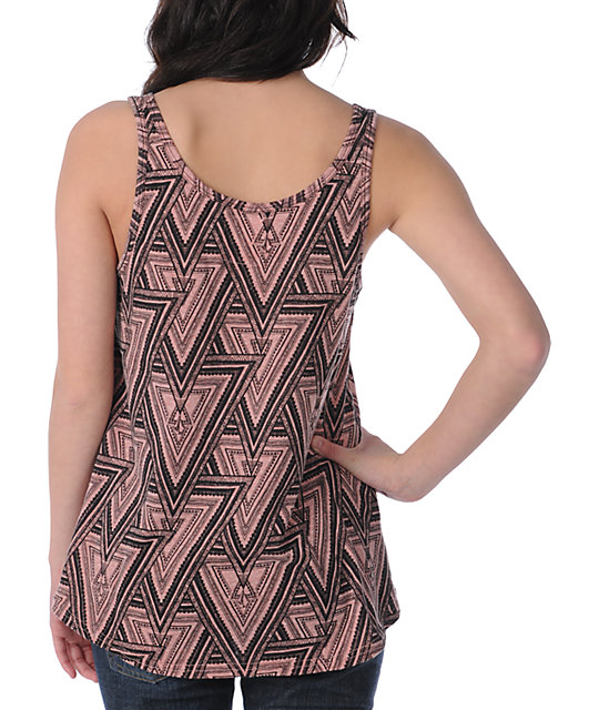 Volcom V.Co Gives Rose Wood Pink Tank Top
