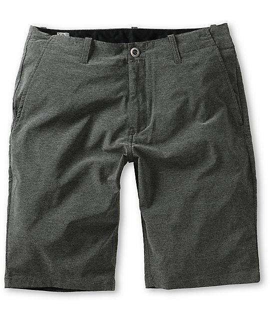 Volcom V2S Fruckin Black Drip Hybrid Shorts