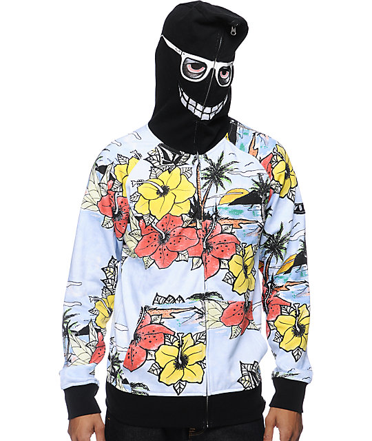 Volcom Vacation Black Full Zip Face Mask Hoodie