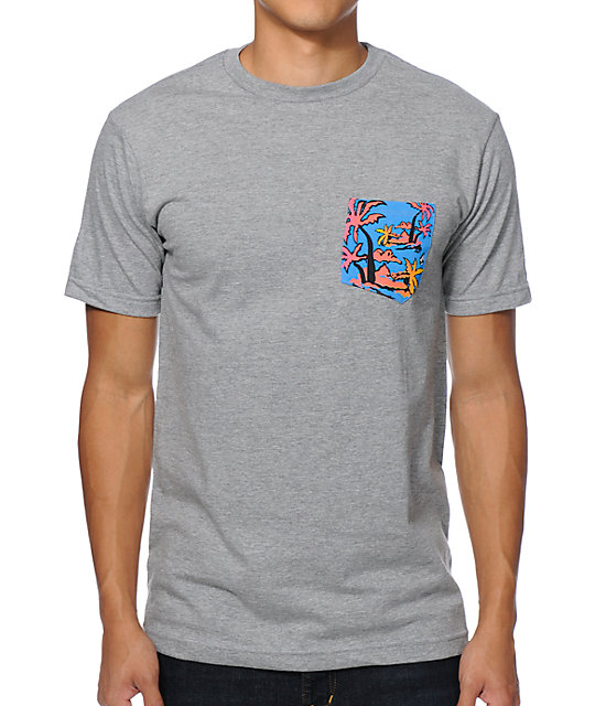 Volcom Vacation Grey Pocket T-Shirt