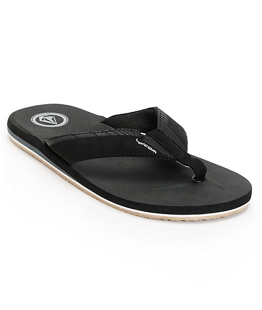 Volcom Vector Black & Gum Creedler Sandals