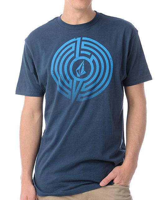 Volcom Vind Up Dark Blue T-Shirt
